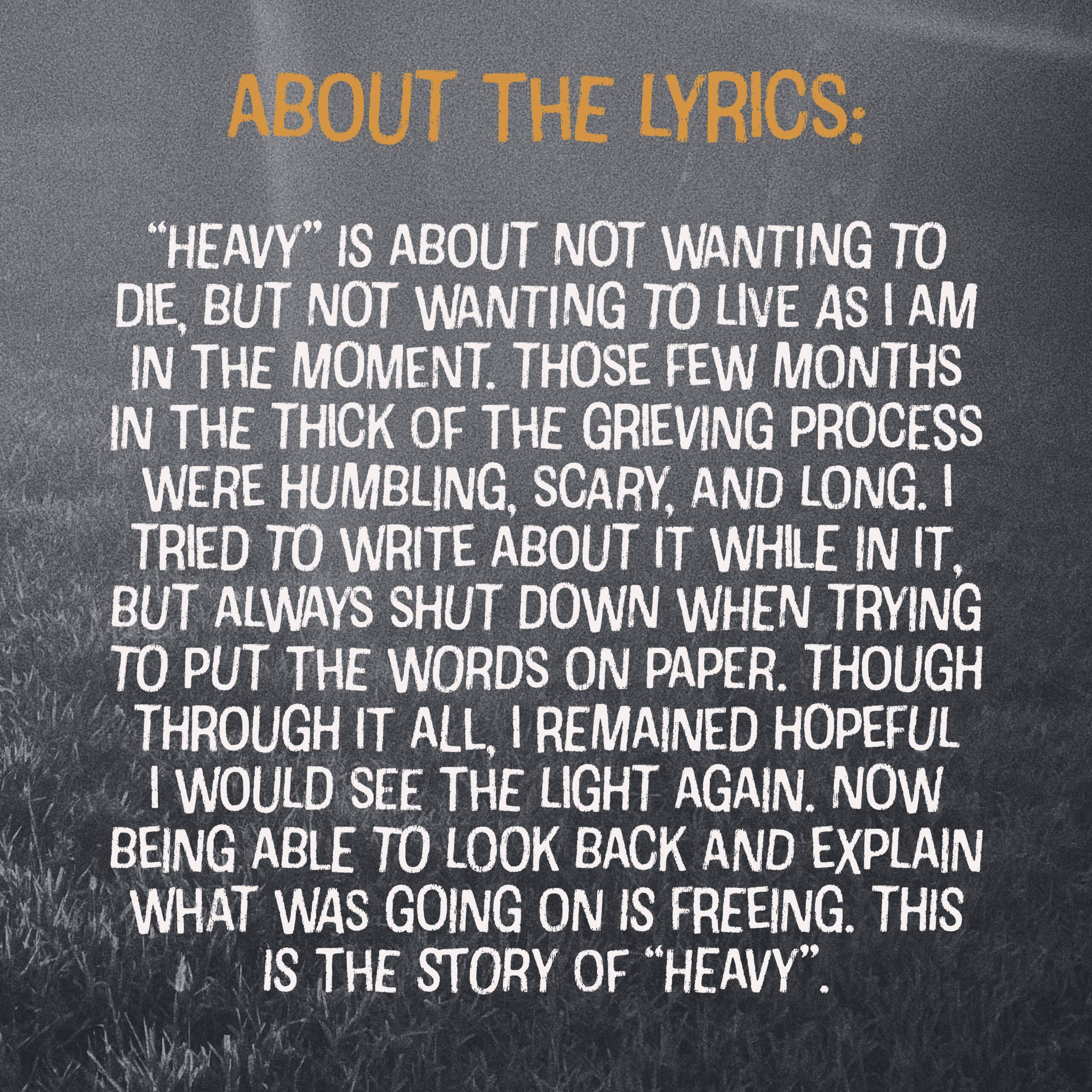 heavy about the lyrics