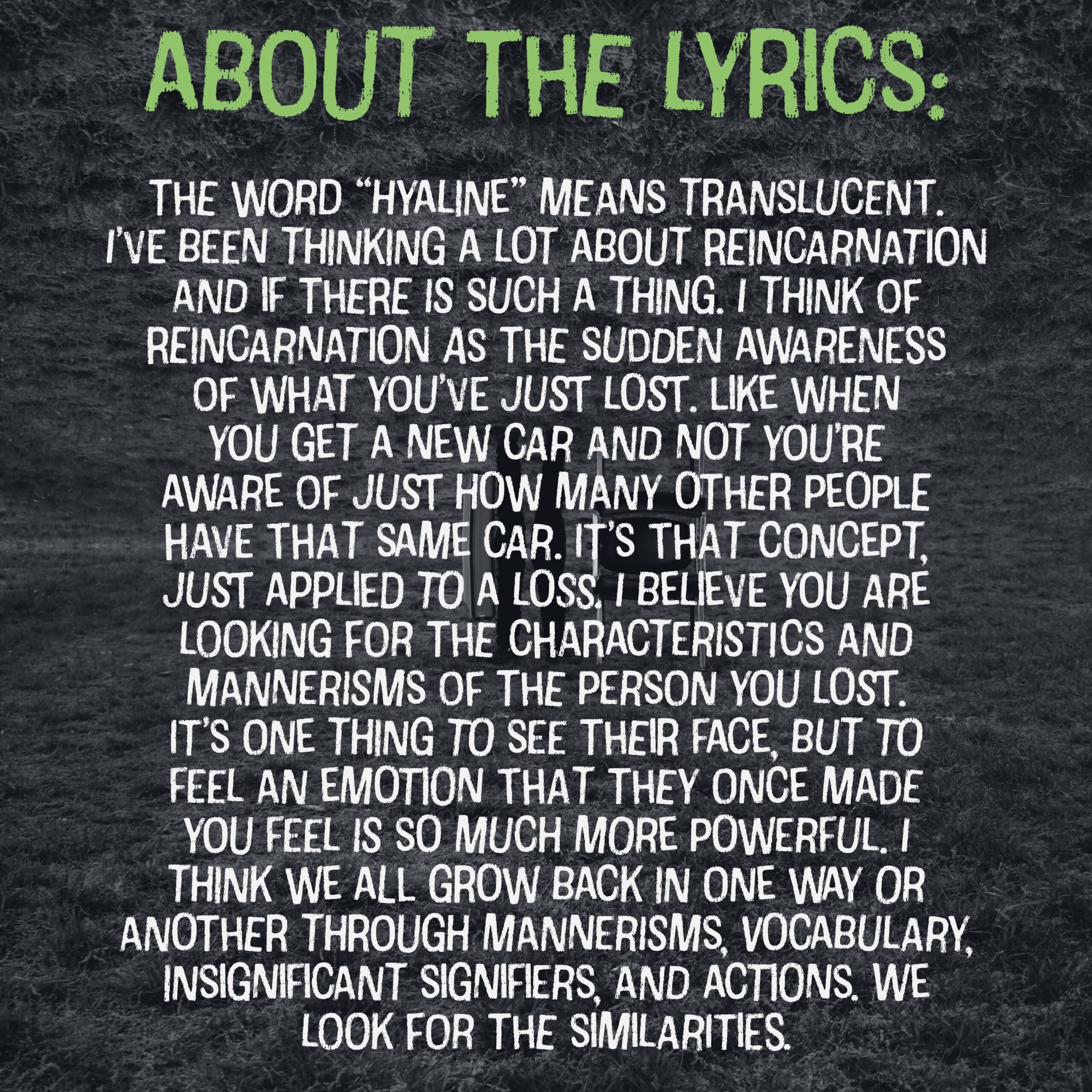 hyaline about the lyrics